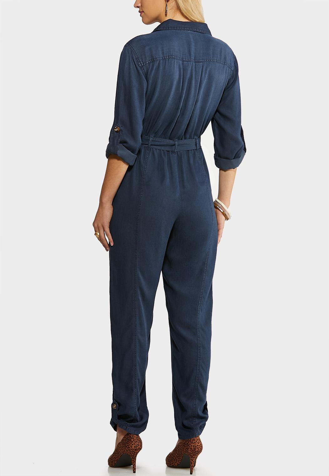 Chambray Utility Jumpsuit (Item #44070015)