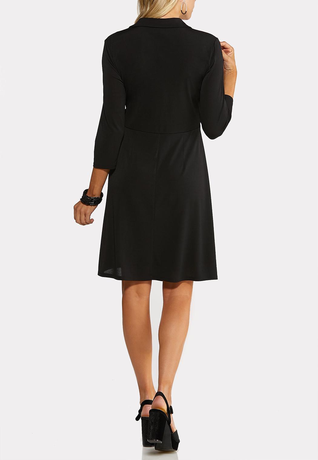 Plus Size Buckle Wrap Dress (Item #44070369)