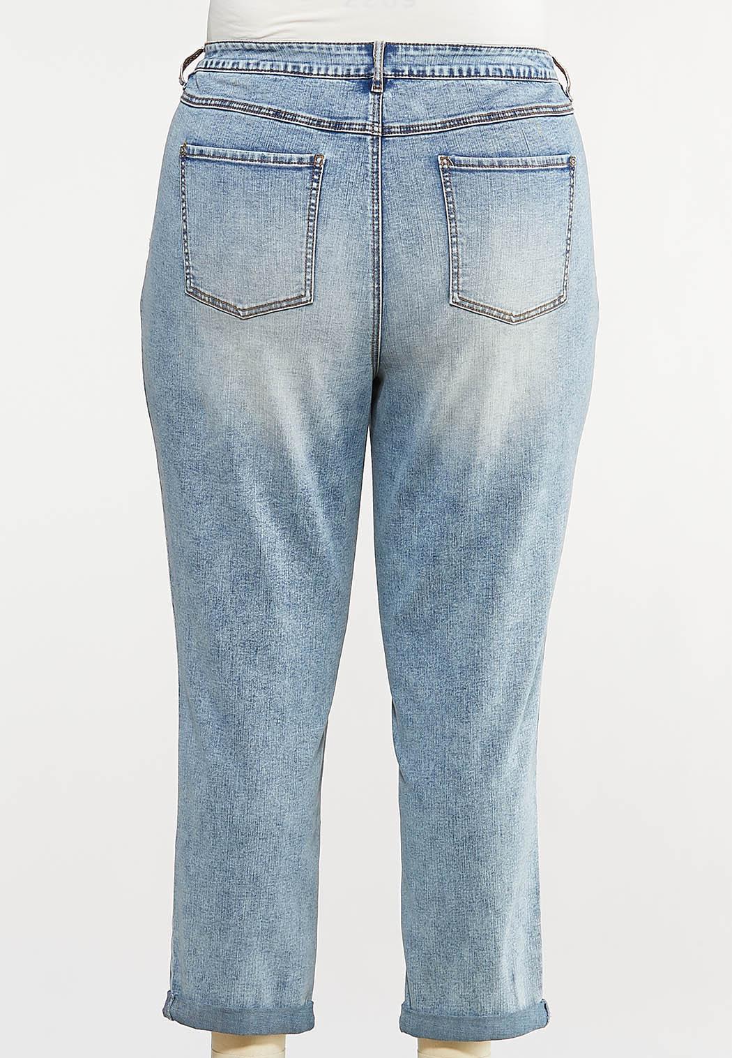 Plus Size Slim Boyfriend Jeans (Item #44070860)