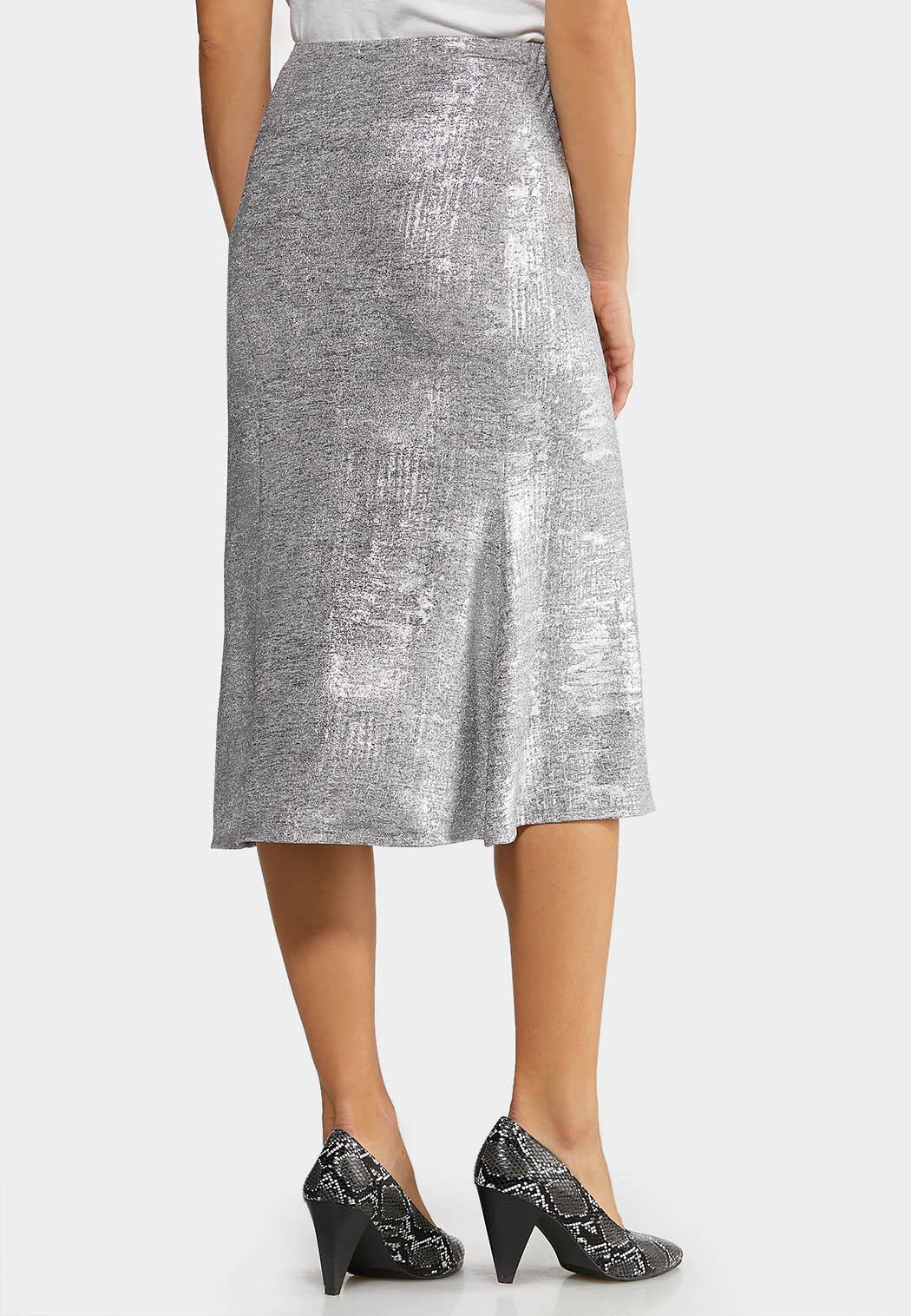 Metallic Slip Midi Skirt (Item #44070893)