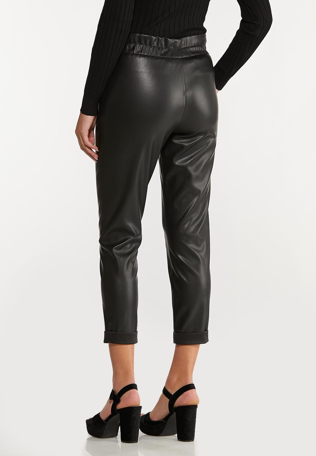 Faux Leather Belted Pants (Item #44070963)