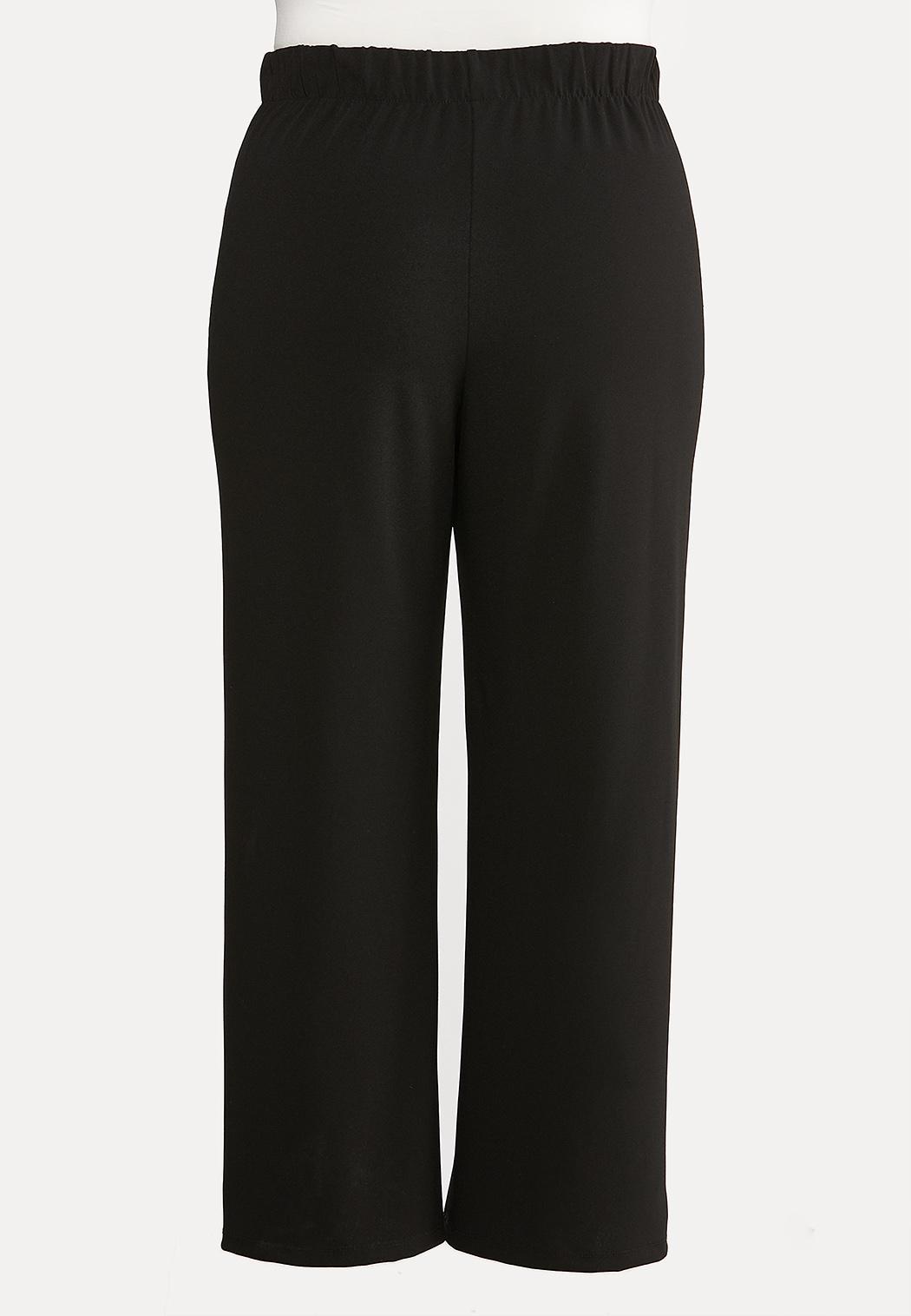 Plus Size Wide Leg Button Pants (Item #44071024)