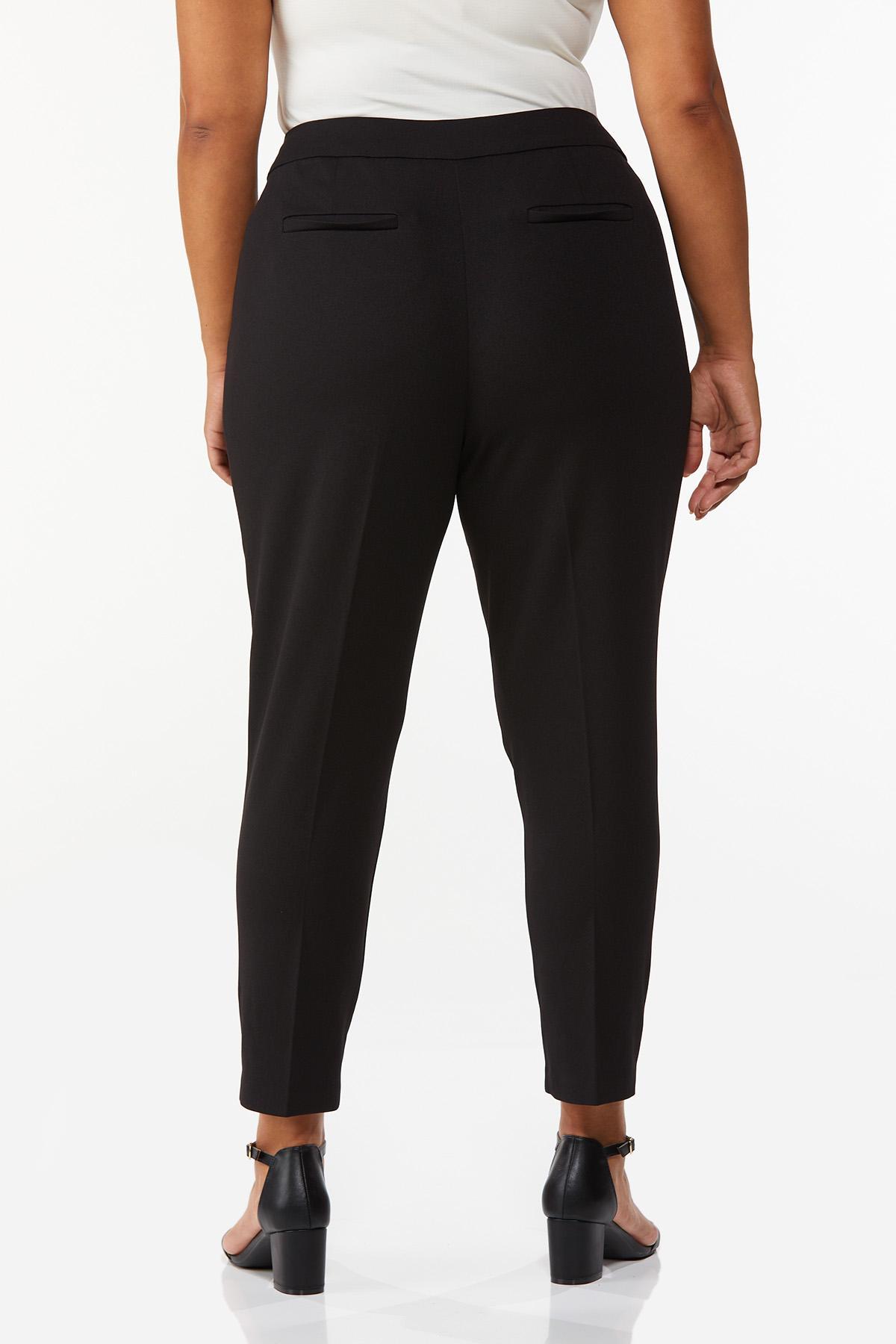 Plus Size Slim Ankle Pants (Item #44071404)