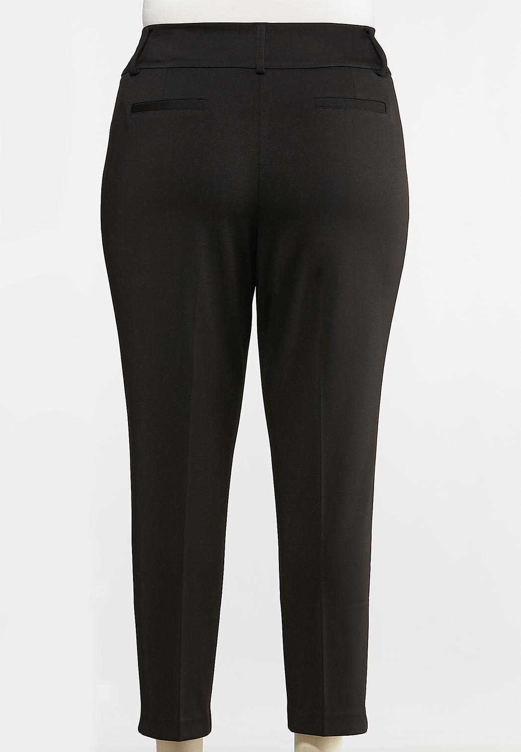 Plus Size Knit Slim Fit Pants (Item #44071675)