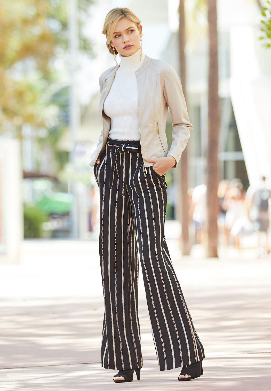Rodeo Stripe Paperbag Pants (Item #44071770)