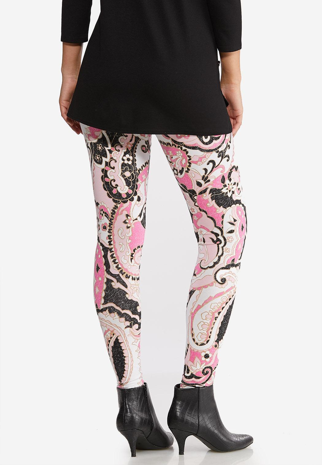 Pink Paisley Leggings (Item #44071831)