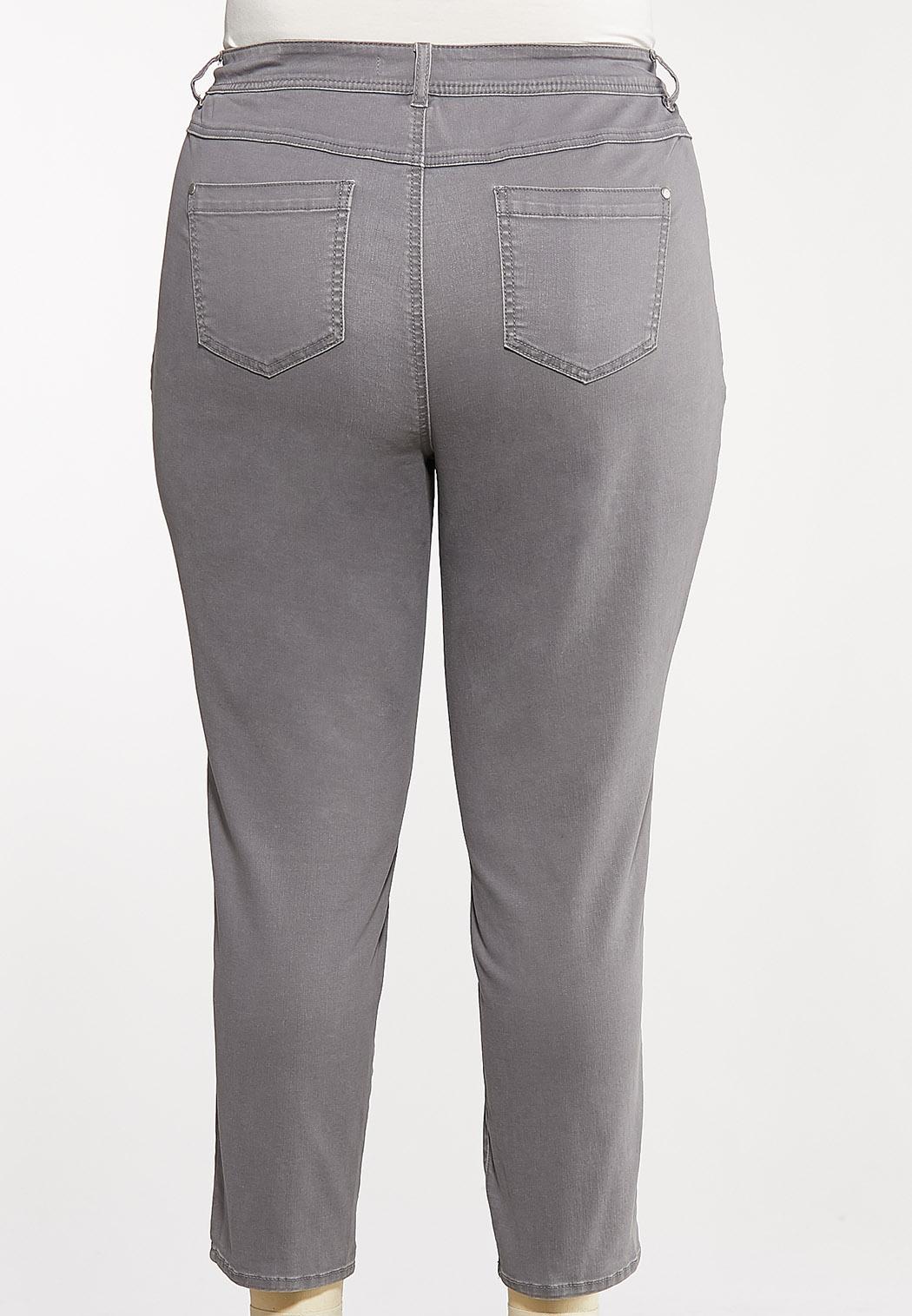 Plus Size Gray Ankle Pants (Item #44072205)
