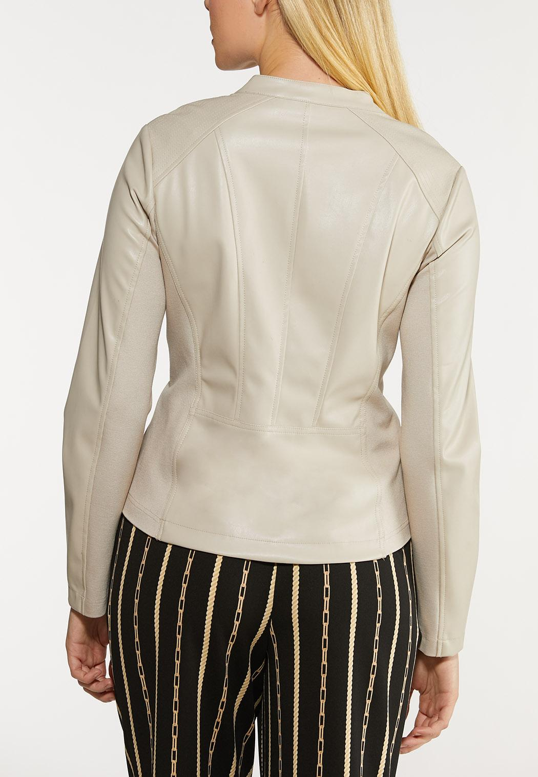 Faux Leather And Ponte Jacket (Item #44072936)