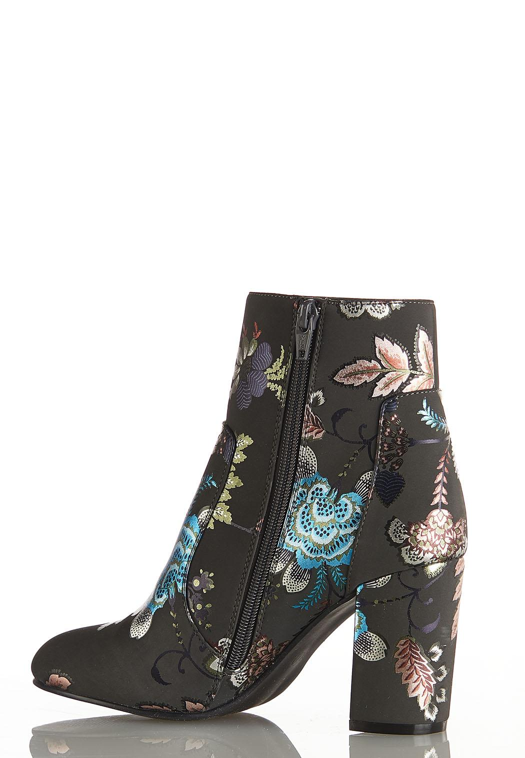 Floral Foil Ankle Boots (Item #44072972)