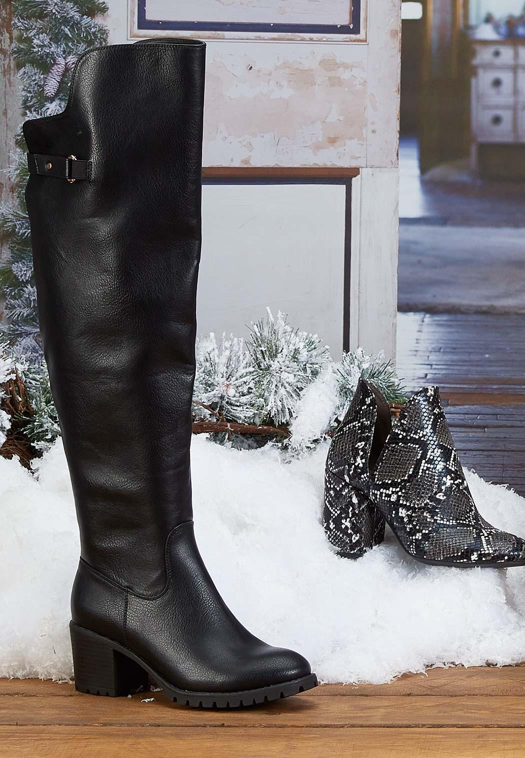 Over The Knee Lug Boots (Item #44073079)