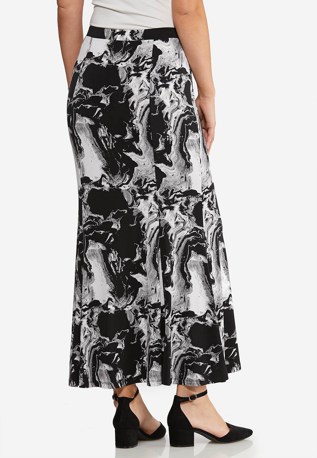 Petite Marble Maxi Skirt (Item #44073086)
