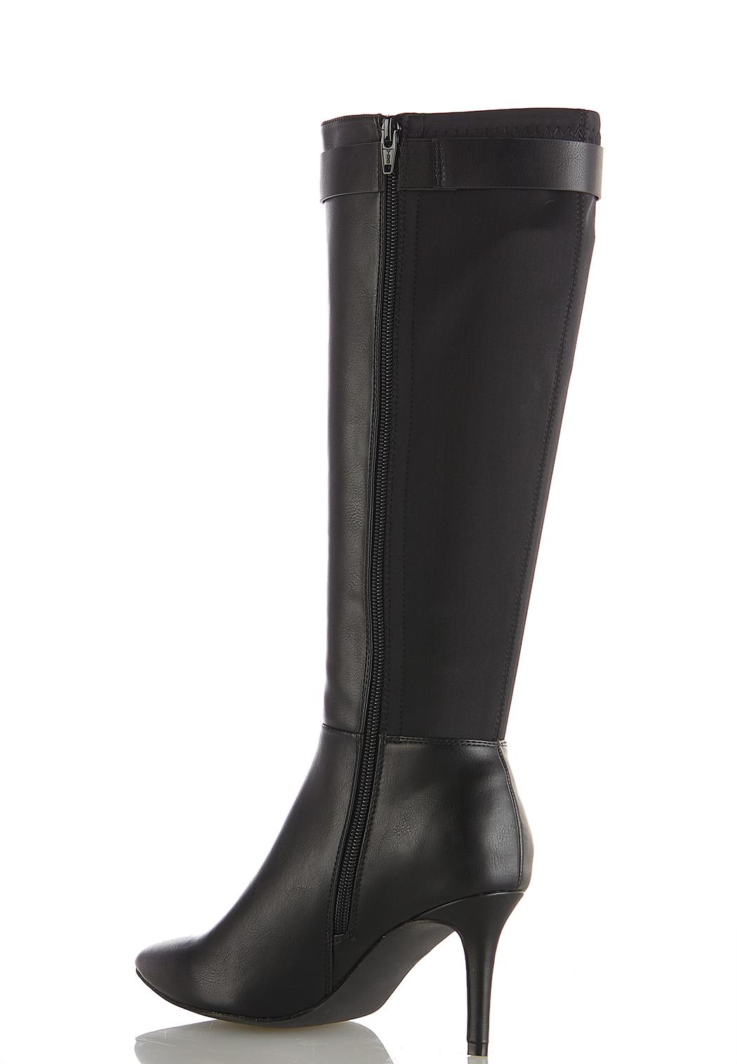 Wide Width Buckle Detail Tall Boots (Item #44073155)