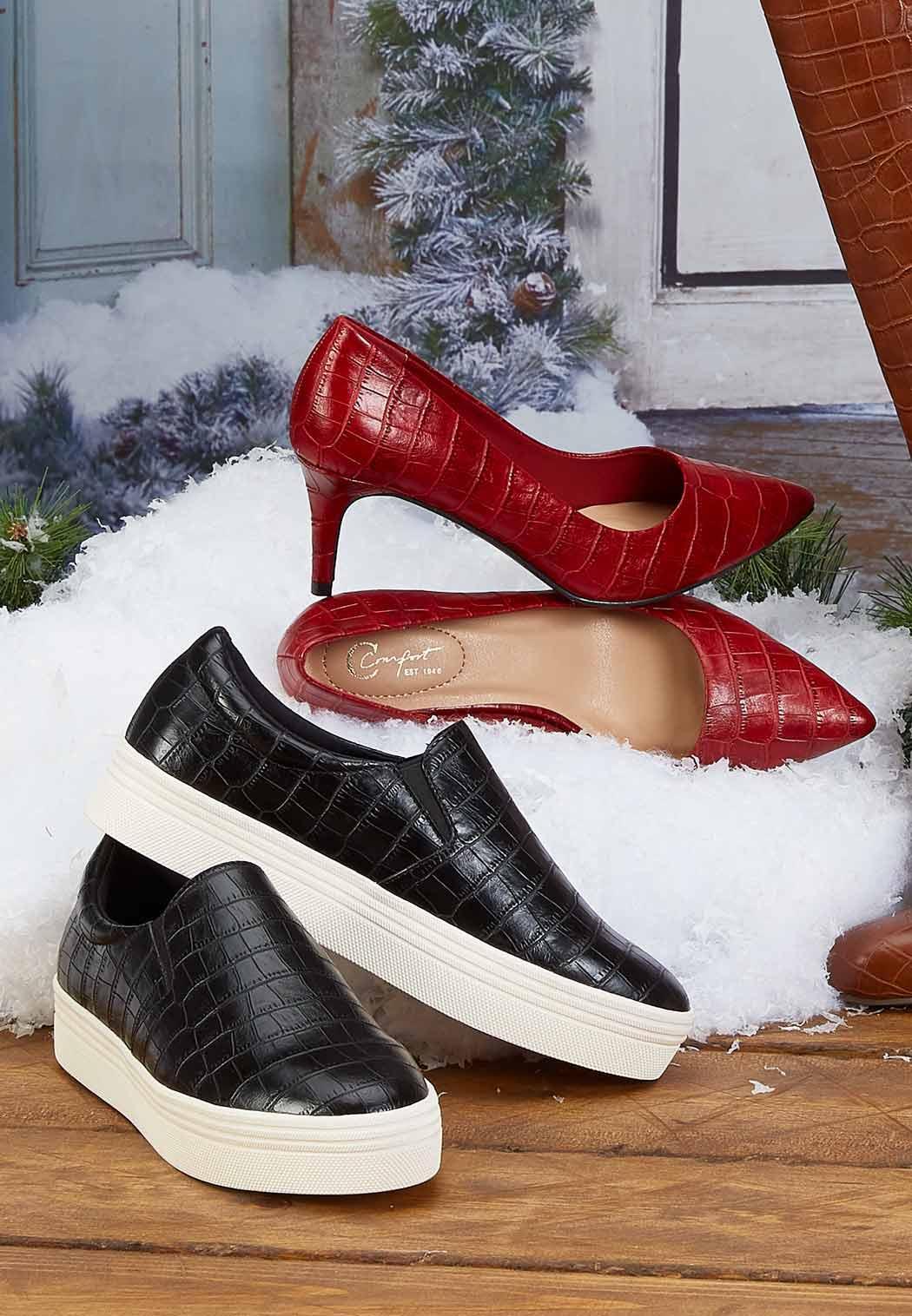 Croc Platform Sneakers (Item #44074087)