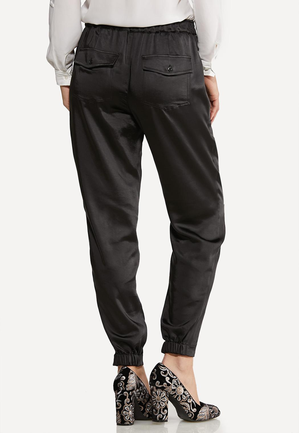 Belted Satin Joggers (Item #44074384)
