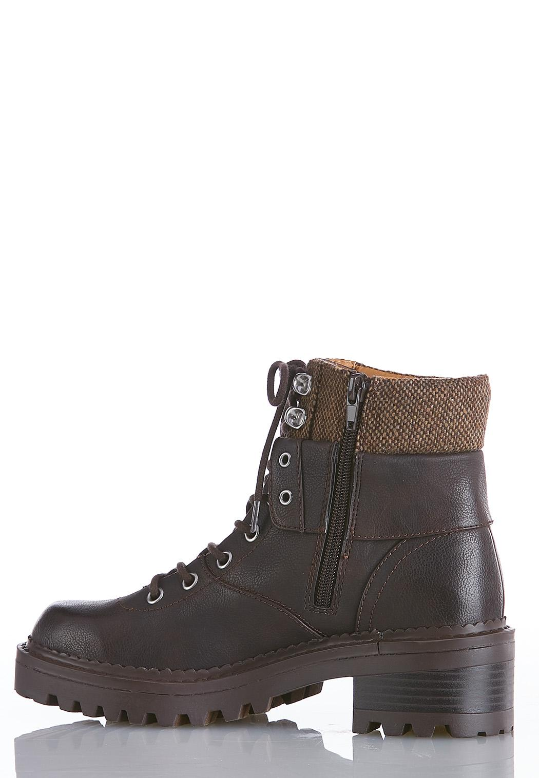 Wide Width Chunky Sole Hiker Boots (Item #44074949)
