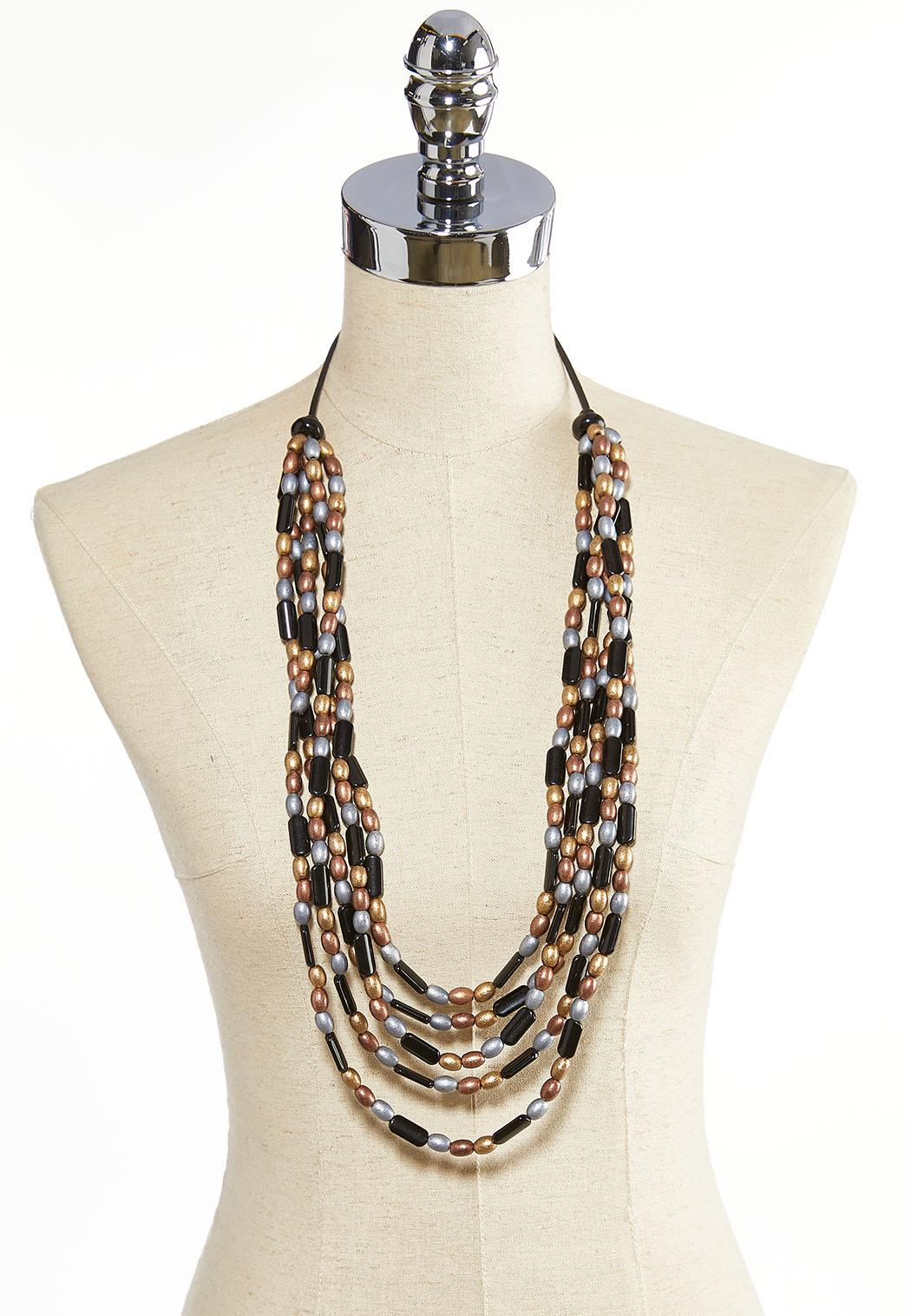 Layered Metallic Toned Necklace (Item #44075008)