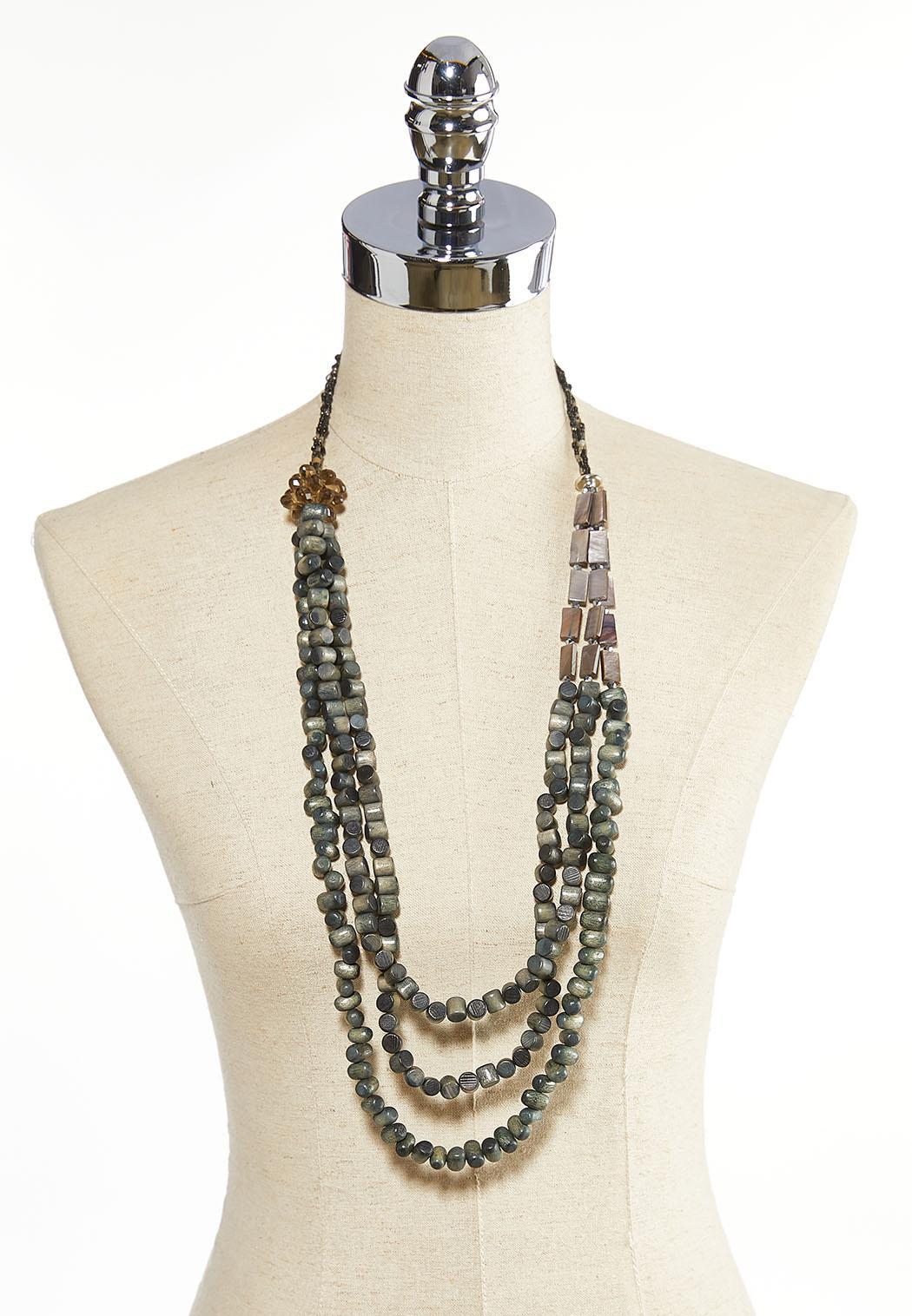 Wondrous Wooden Bead Necklace (Item #44075078)