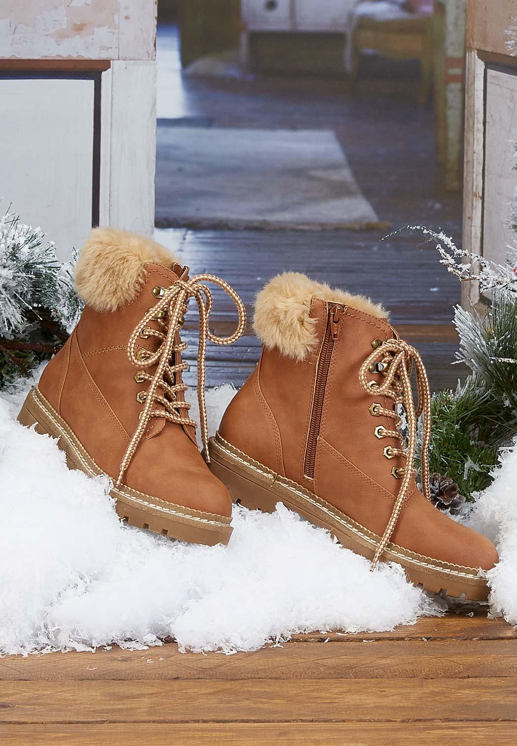 Fur Cuff Hiker Boot (Item #44075177)