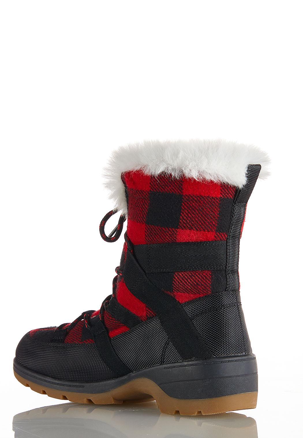 Buffalo Plaid Duck Boots (Item #44075212)