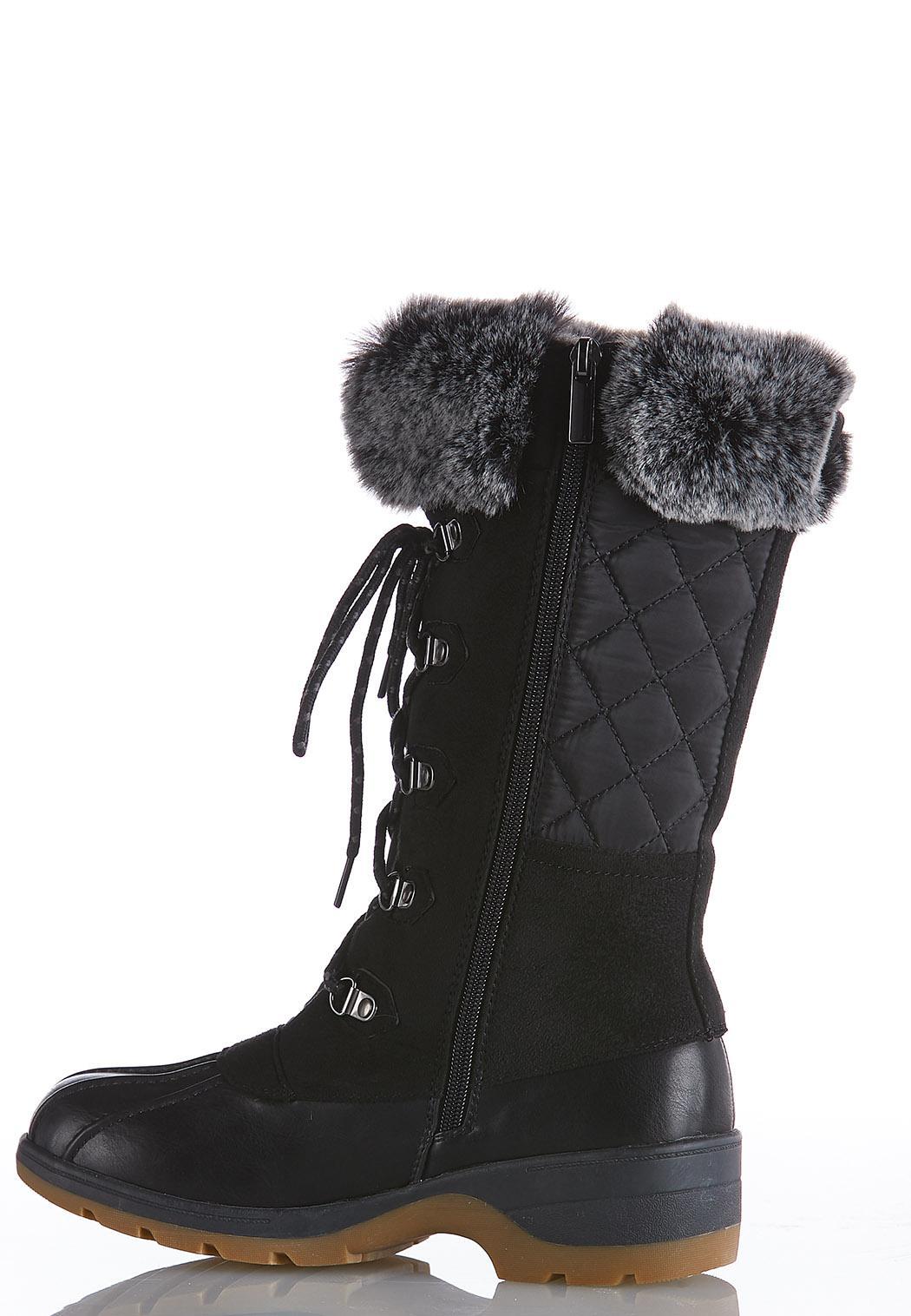Fur Cuff Tall Duck Boots (Item #44075230)
