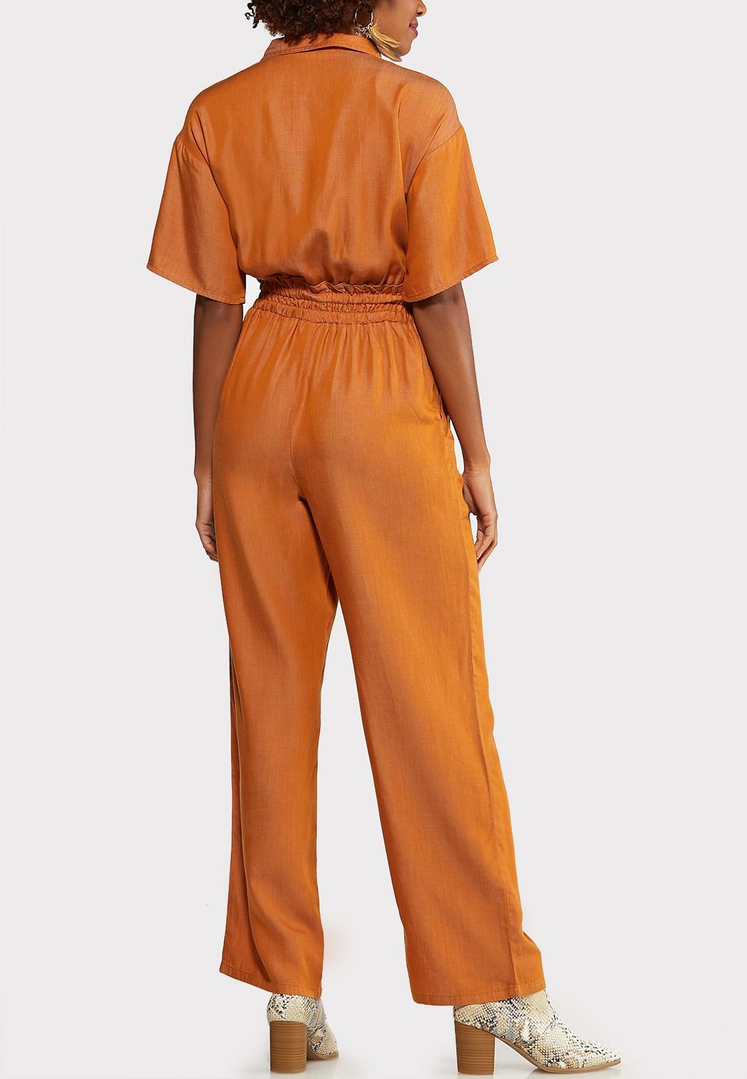 Copper Cinched Waist Jumpsuit (Item #44075323)
