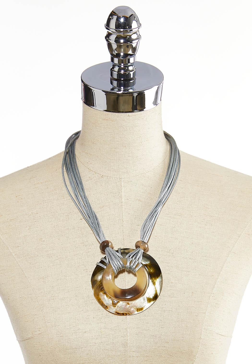 Shell Pendant Cord Necklace (Item #44075559)