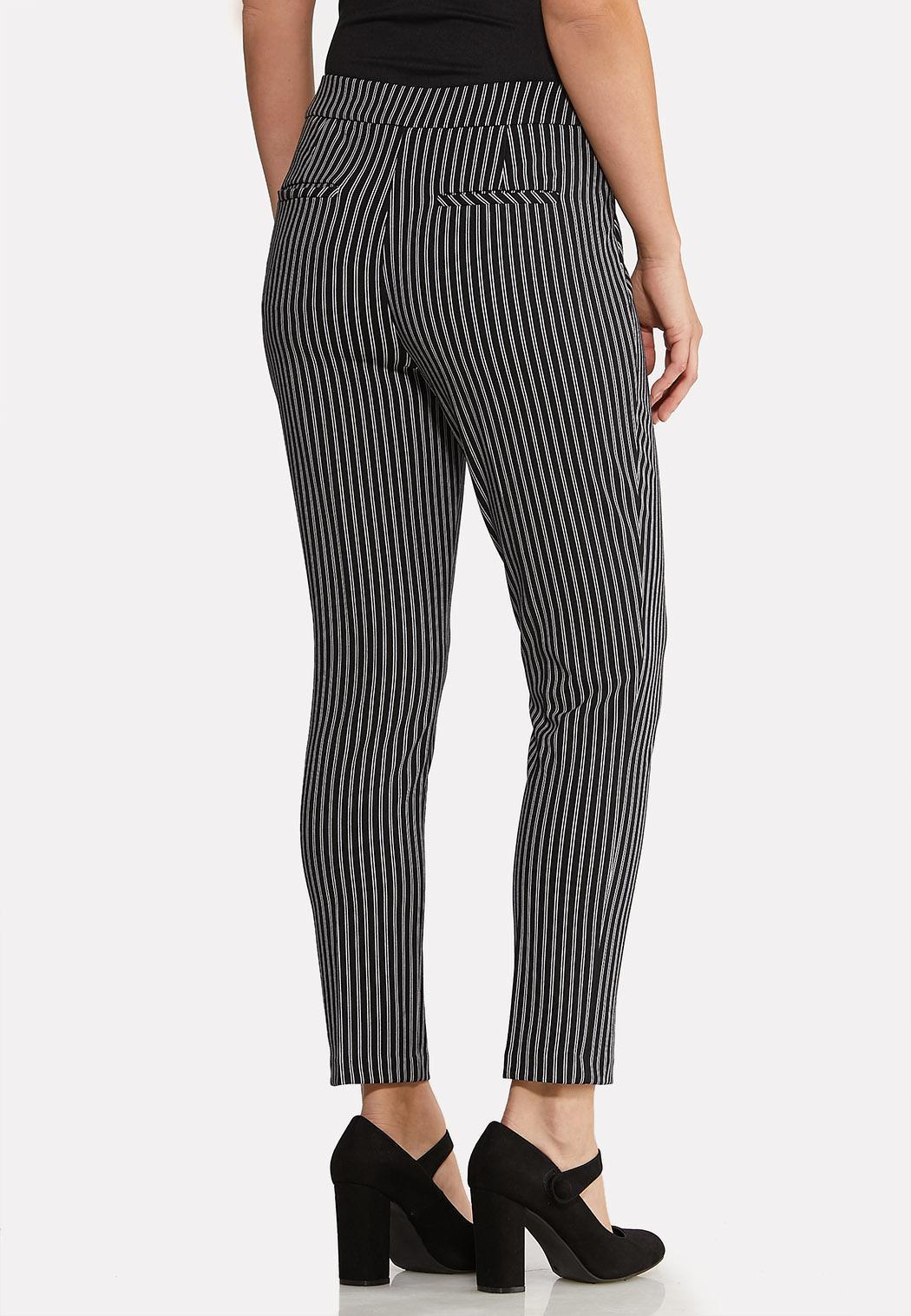 Petite Stripe Silver Button Pants (Item #44075633)