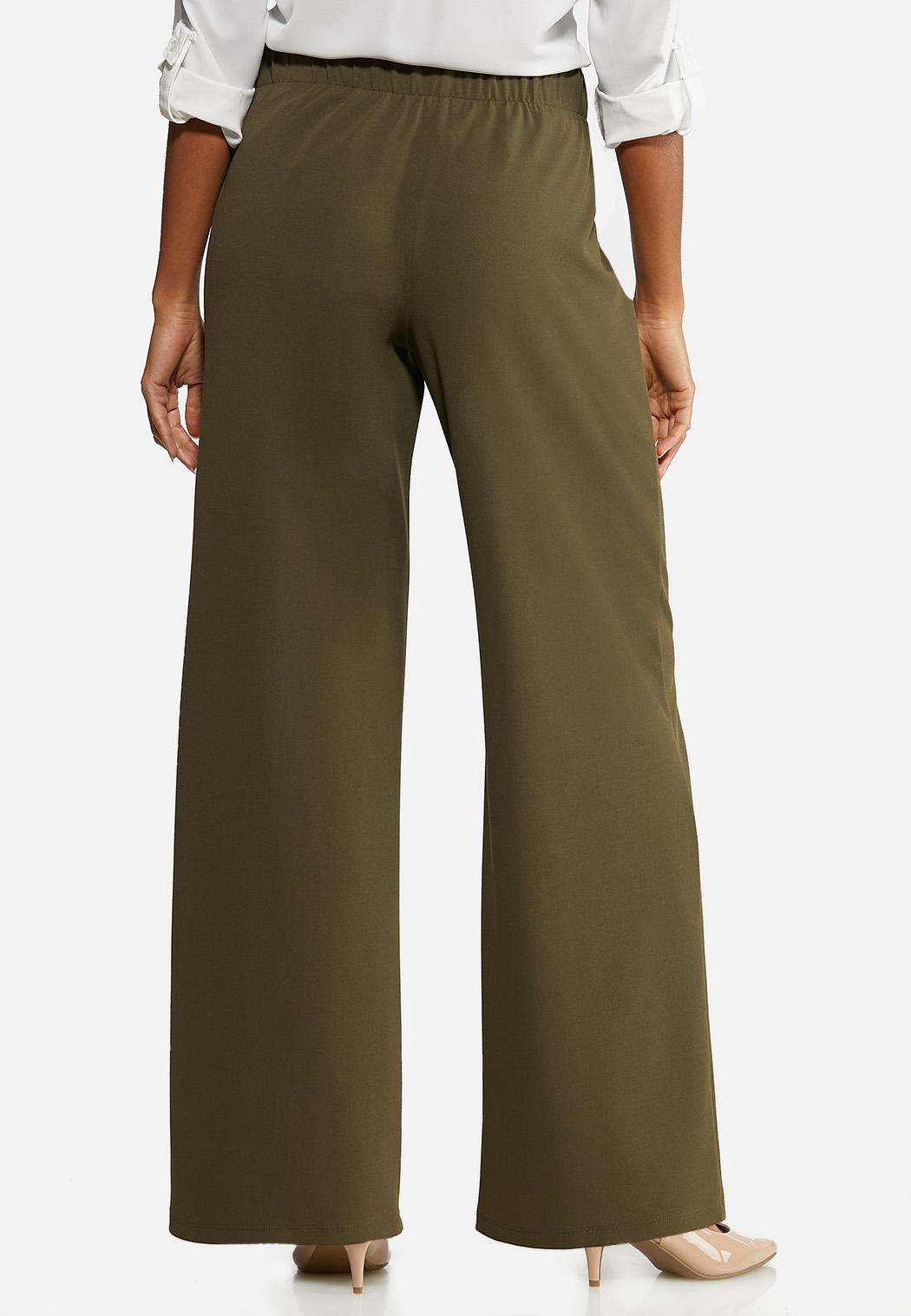 Petite Wide Leg Button Pants (Item #44076611)