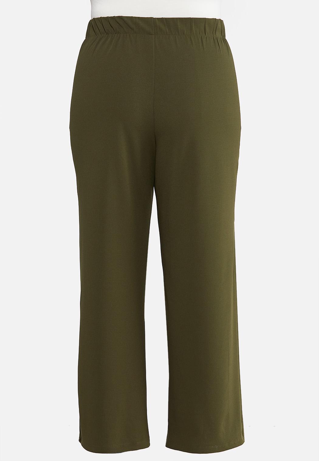 Plus Petite Wide Leg Button Pants (Item #44076693)