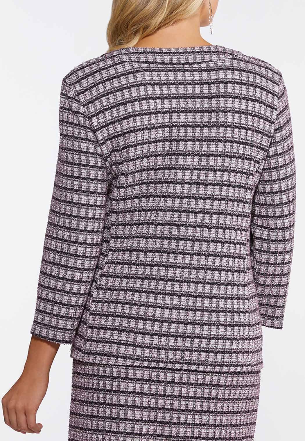 Plus Size Tweed Jacket (Item #44076767)
