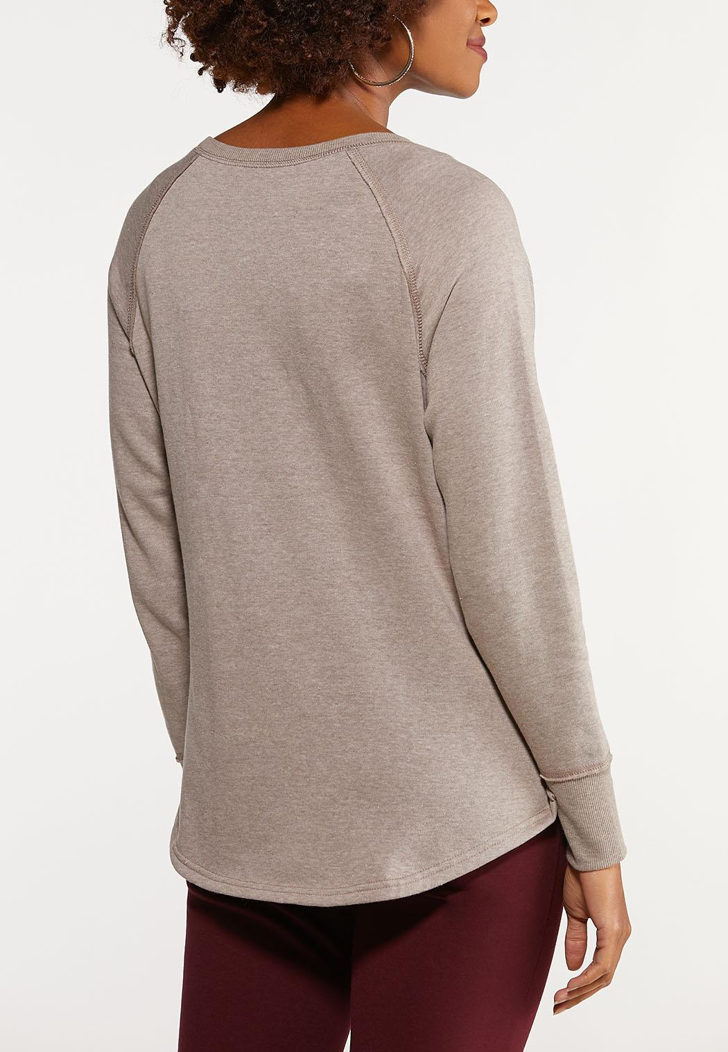 Plus Size Stiched Faith Sweatshirt (Item #44077155)