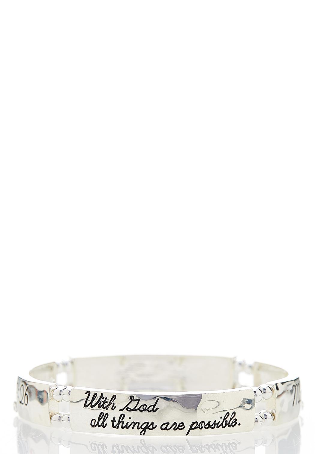 Inspirational Silver Bracelet (Item #44077204)