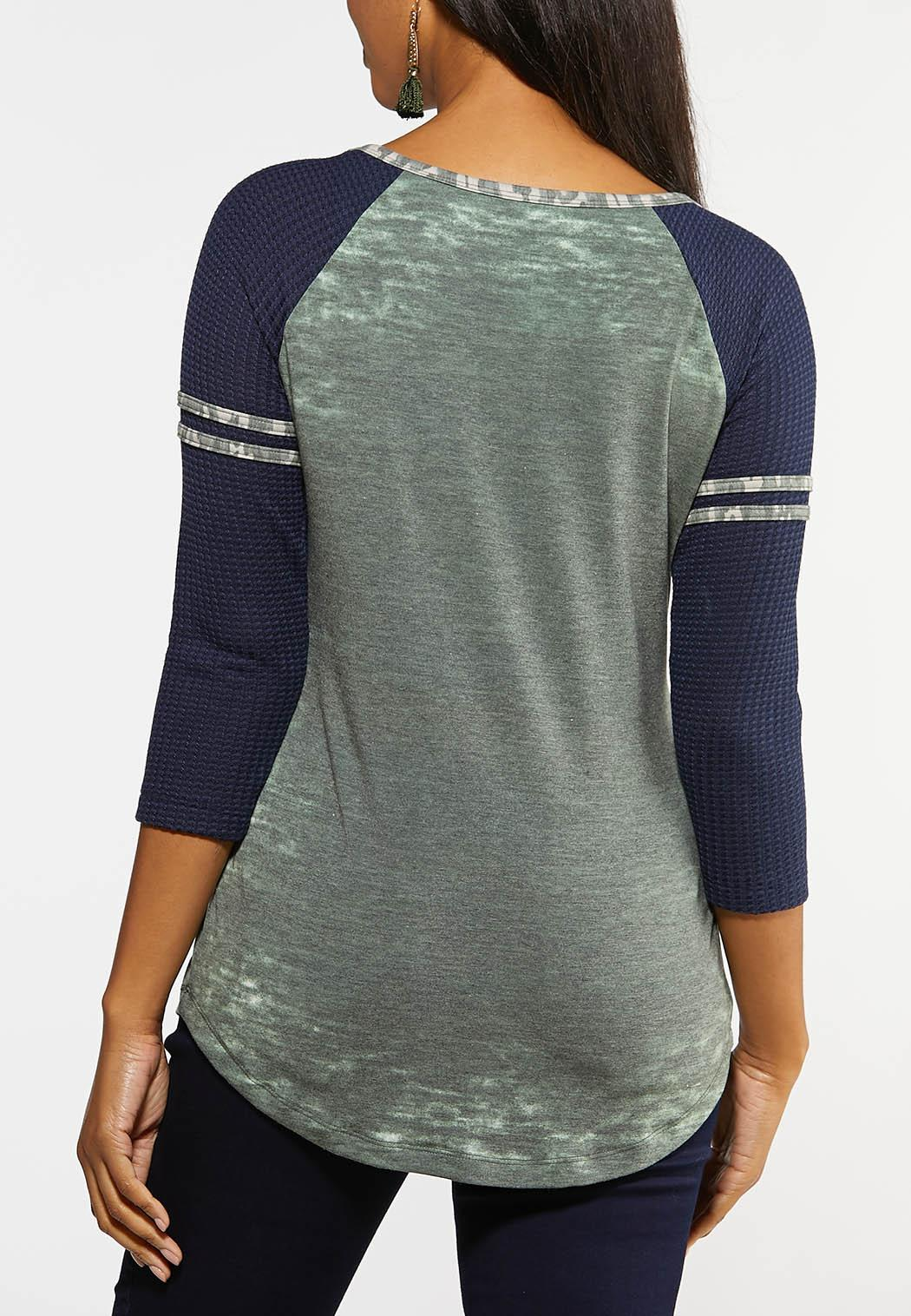 Plus Size Believe Baseball Tee (Item #44077294)