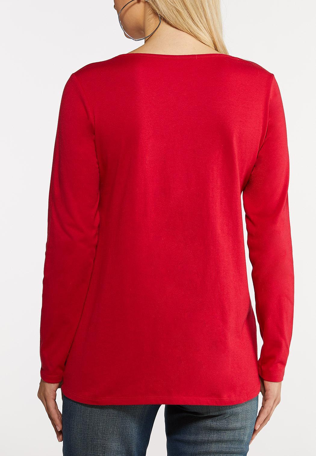 Plus Size Who Needs Mistletoe Top (Item #44077359)