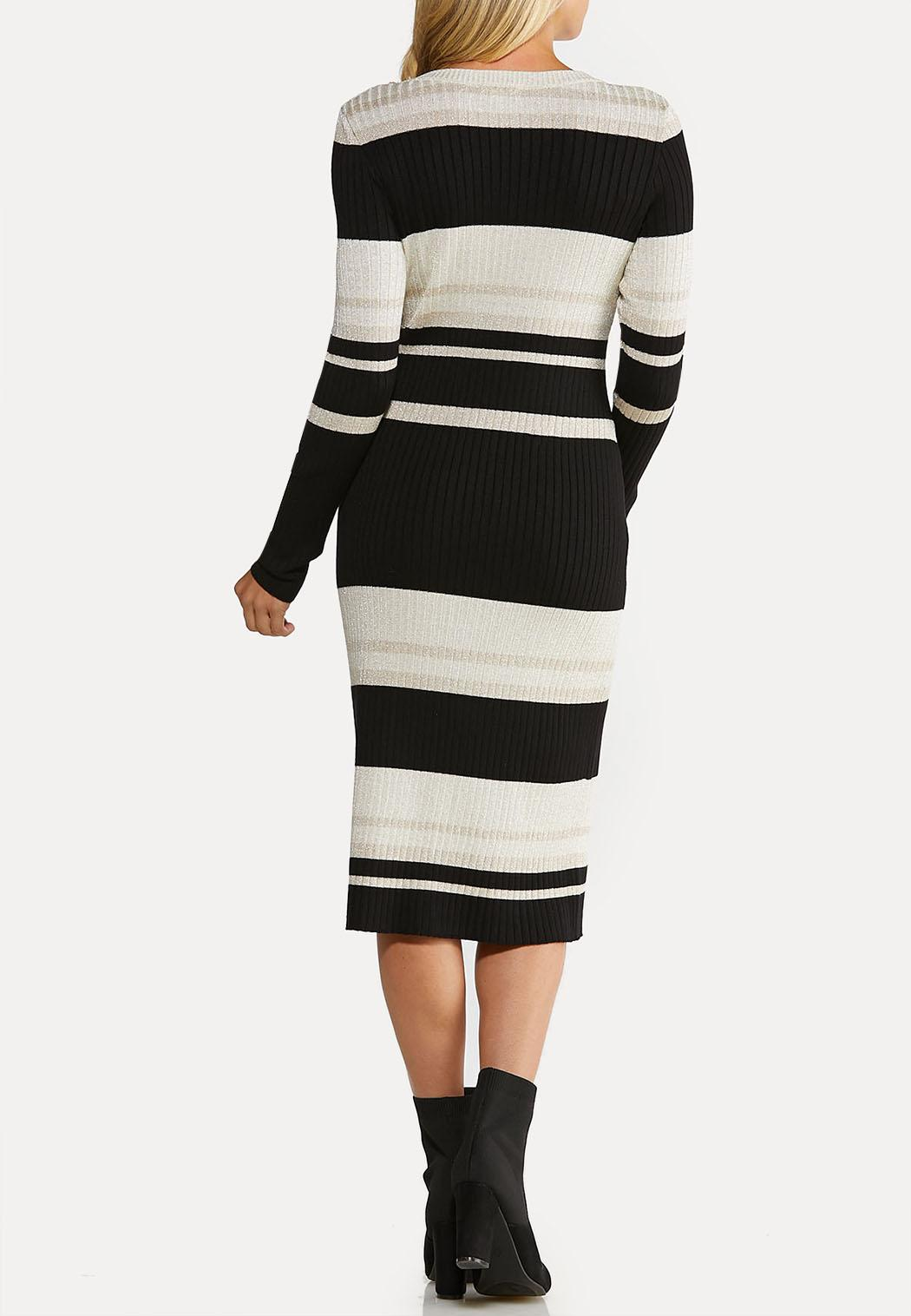 Metallic Stripe Sweater Dress (Item #44077437)