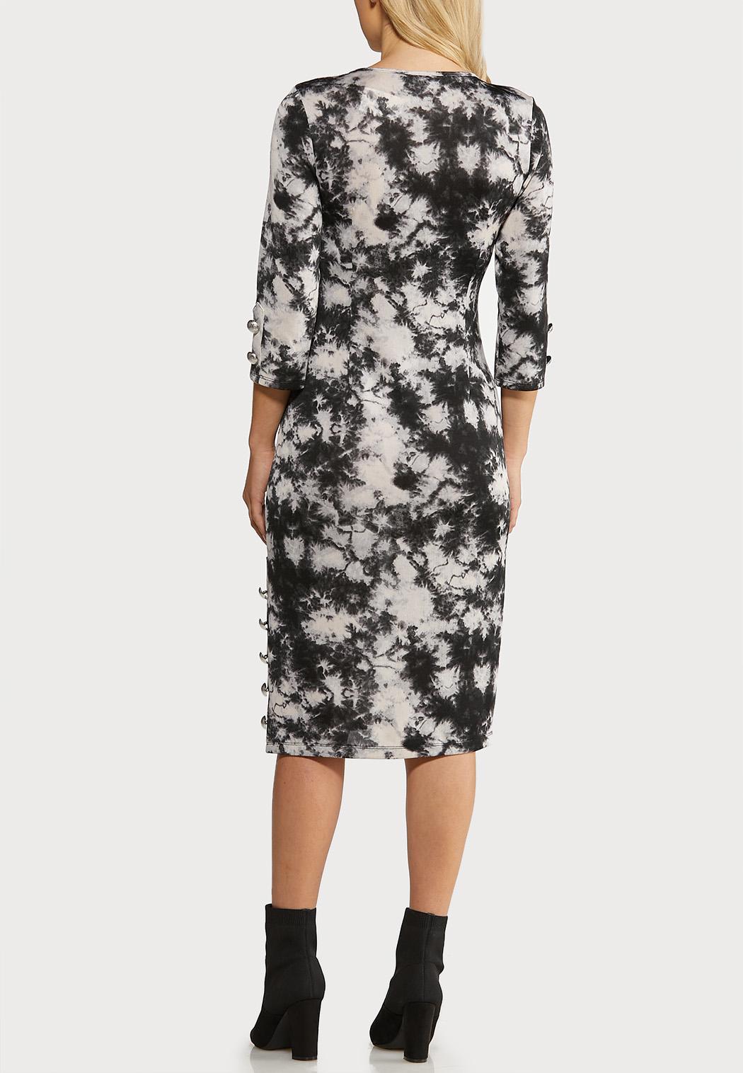 Plus Size Tie Dye Hacci Midi Dress (Item #44077473)