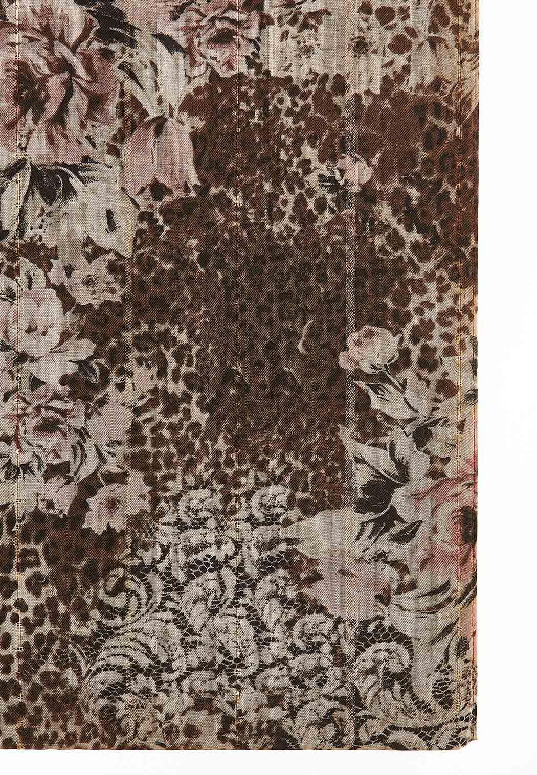 Floral Leopard Infinity Scarf (Item #44077817)