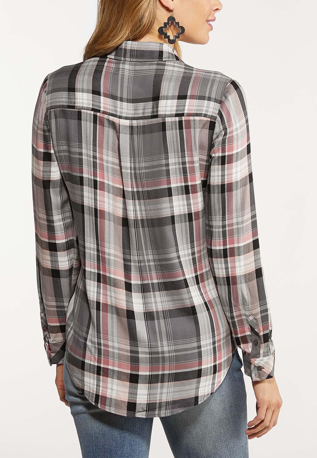 Gray Plaid Button Down Shirt (Item #44077950)