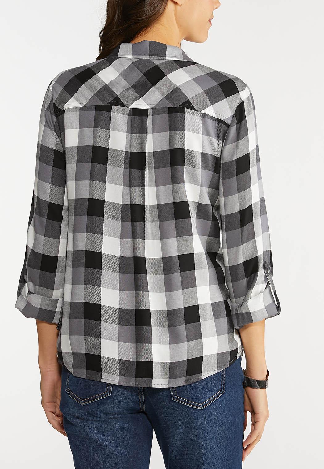 Plaid Lace Up Shirt (Item #44077987)
