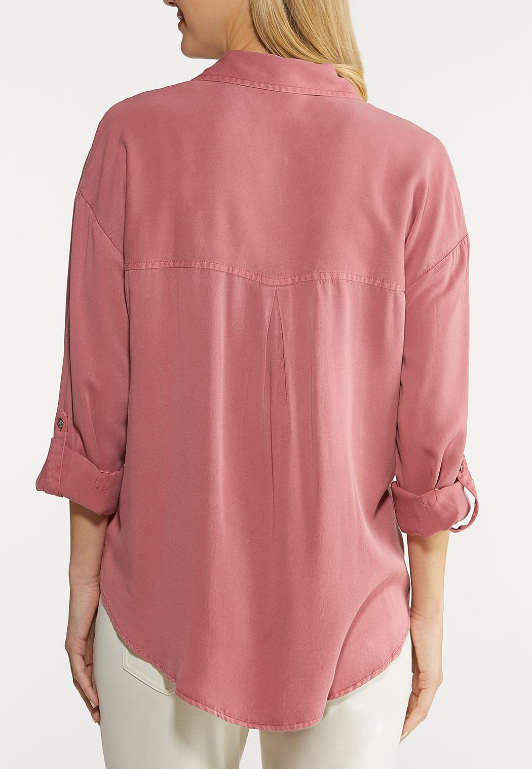 Plus Size Relaxed Pocket Top (Item #44078198)