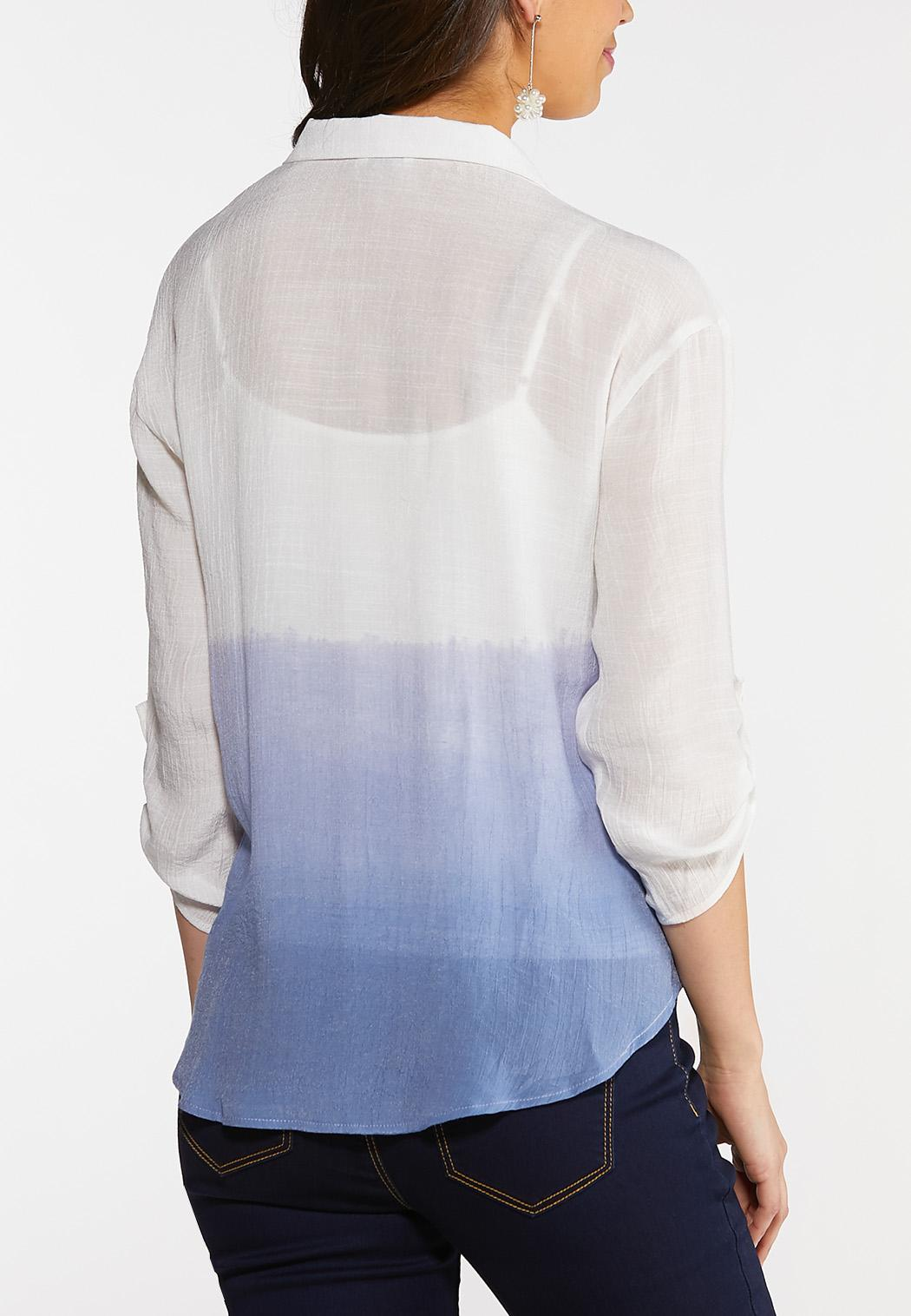 Dip Dye Button Down Top (Item #44079347)