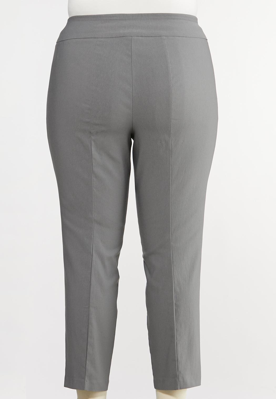 Plus Size Bengaline Ankle Pants (Item #44080132)