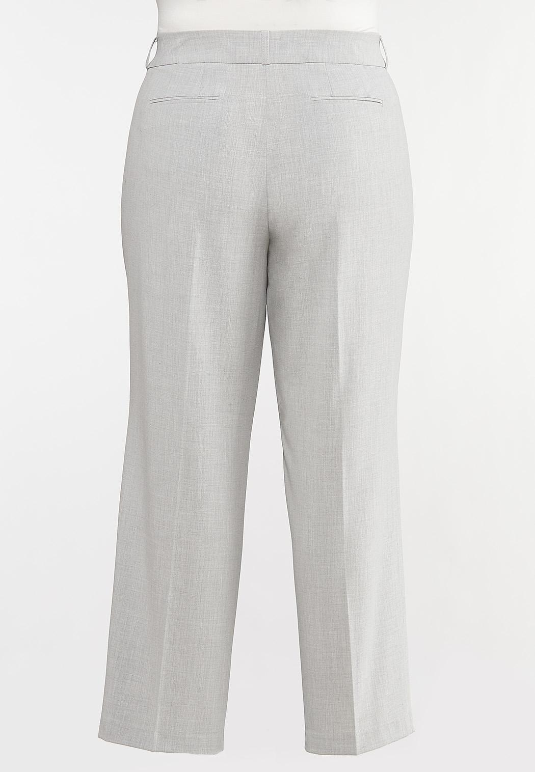 Plus Size Gray Trouser Pants (Item #44080172)
