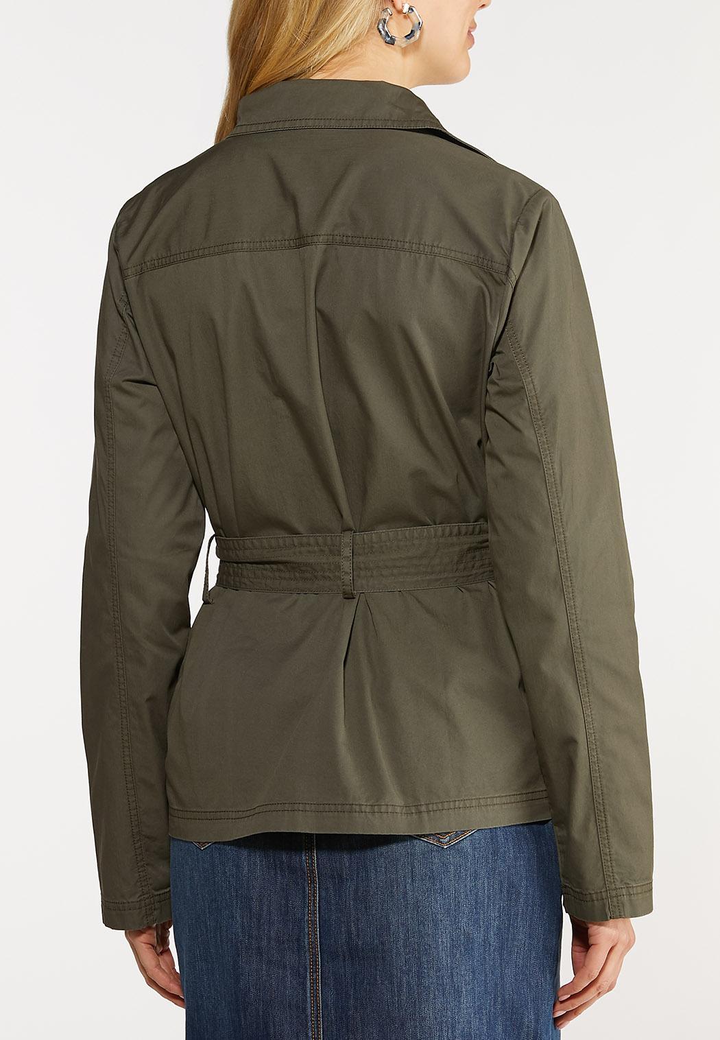 Plus Size Belted Utility Jacket (Item #44080379)