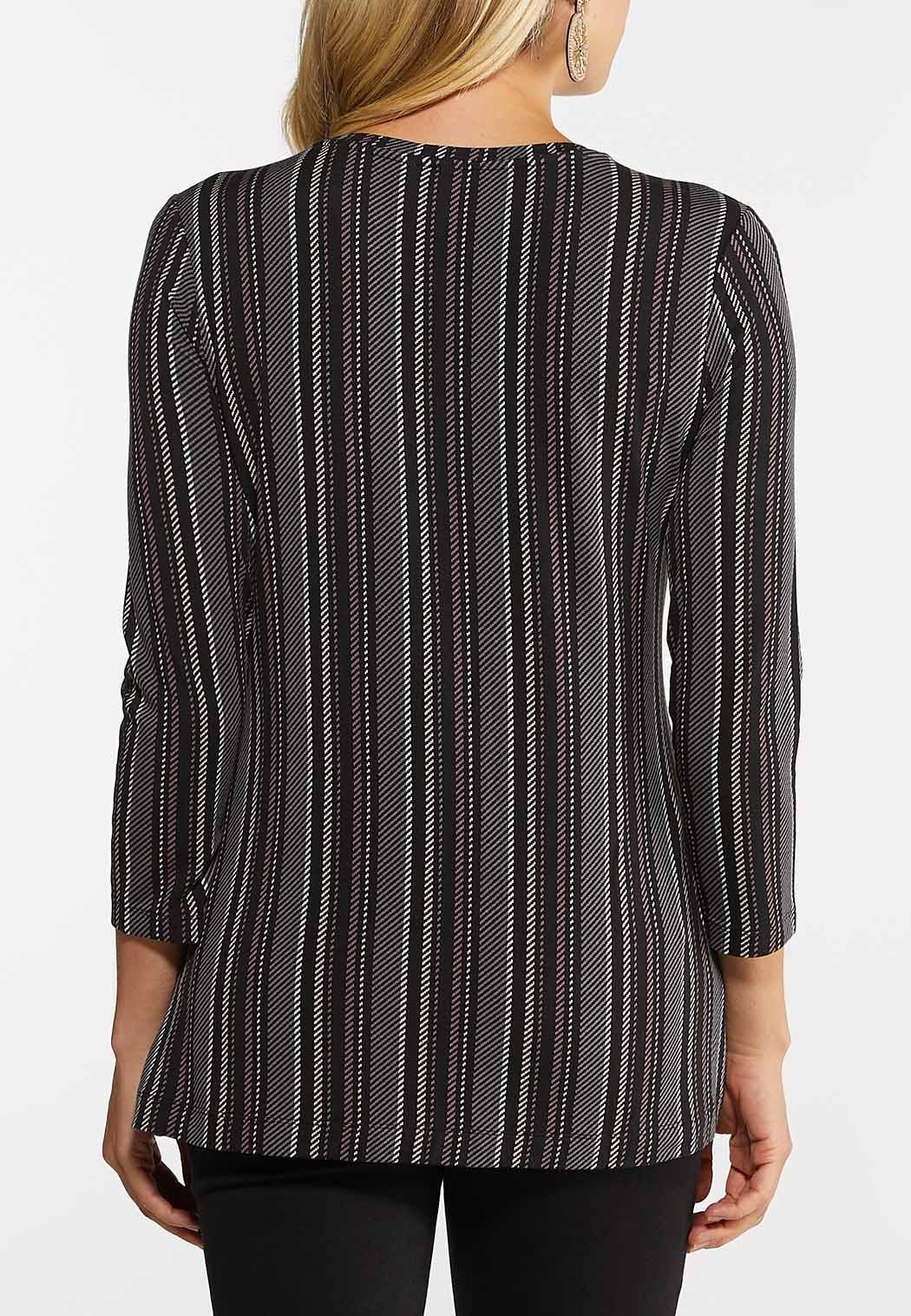 Plus Size Dashing Stripe Top (Item #44080931)