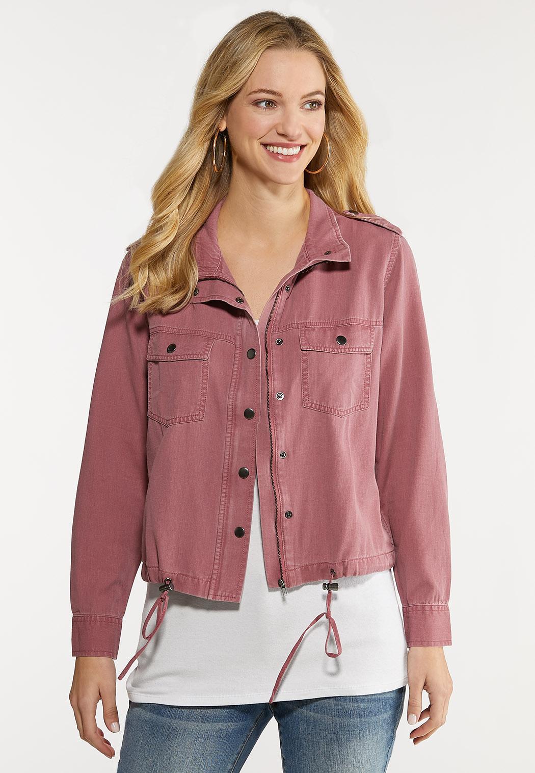 Plus Size Rose Utility Jacket (Item #44080950)