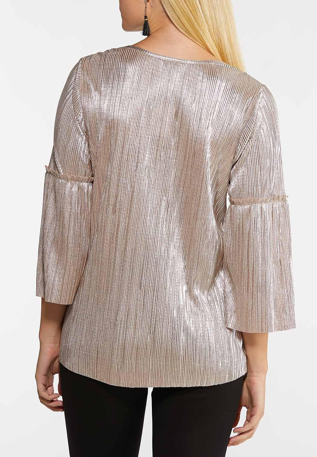 Plus Size Shimmery Gold Top (Item #44081315)
