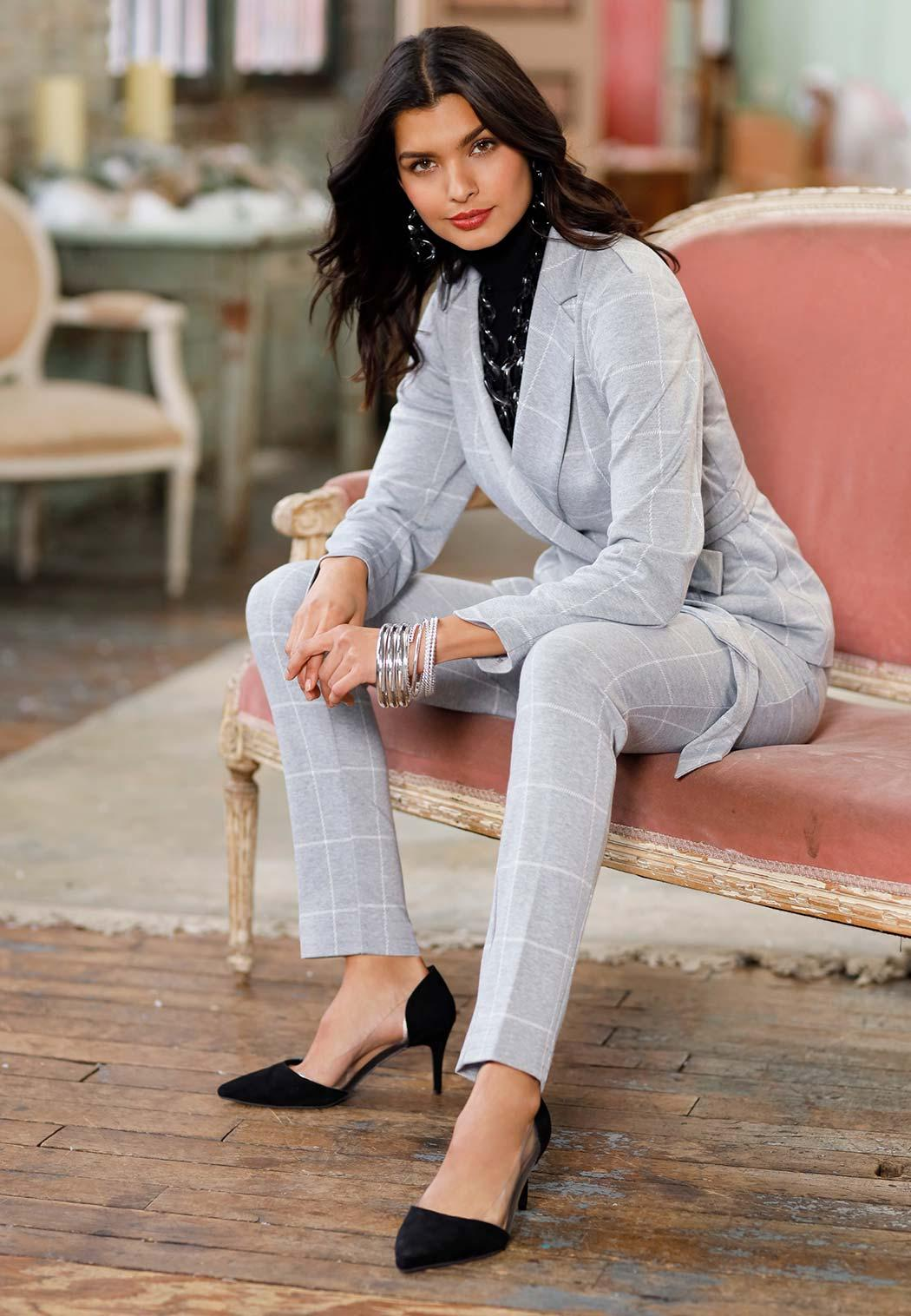 Plaid Knit Pants (Item #44082638)