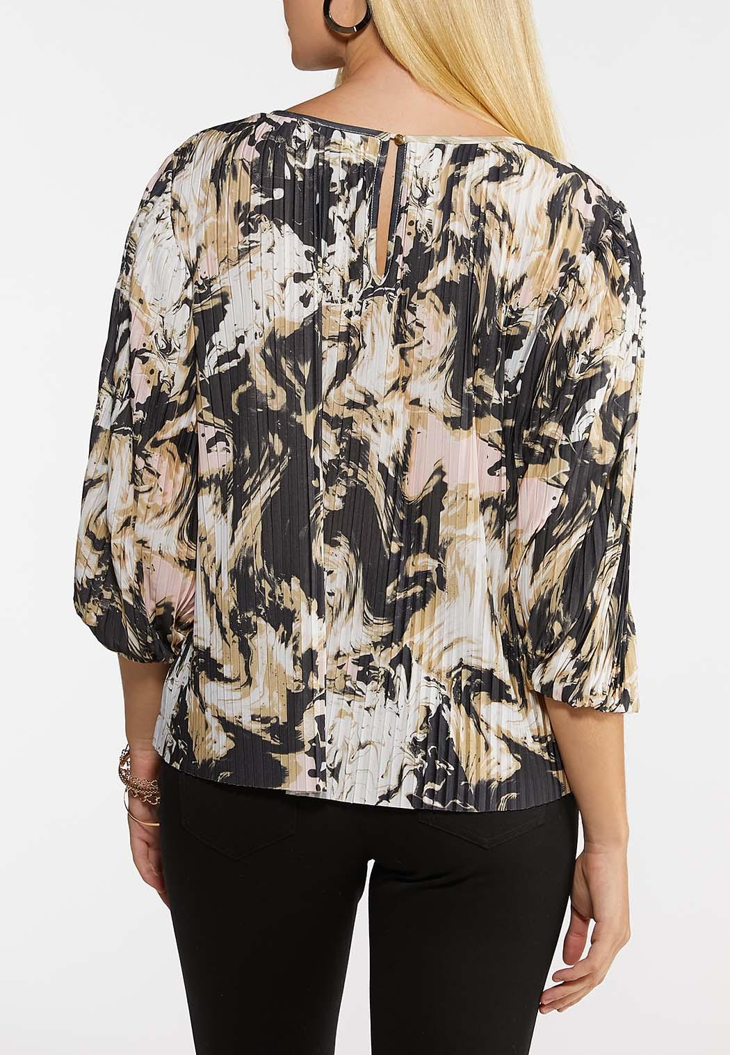 Pleated Blush Floral Top (Item #44083862)