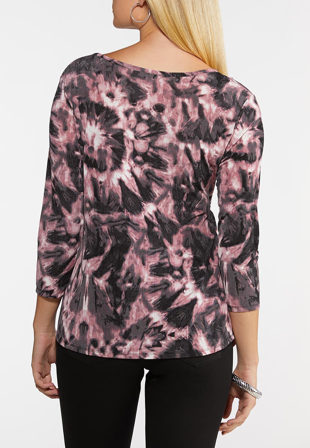 Plus Size Tie Dye Cinch Top (Item #44083915)